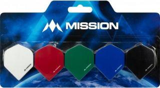 Mission Logo 100 Std. Black Red Dartflight   Darts Warehouse