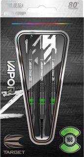 Vapor Z Black Green 80% Softtip Darts   Darts Warehouse