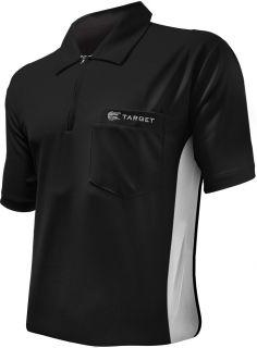 Coolplay Hybrid Black White Target Dartshirt | Darts Warehouse