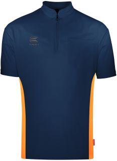 Coolplay Collarless Shirt Blue Orange Target Dartshirt | Darts Warehouse