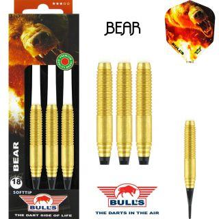 Softtip Bull's Bear Brass | Kinderdartpijlen | Darts Warehouse