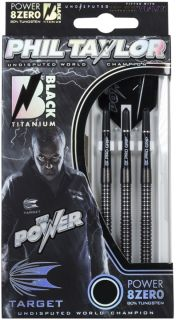 Target 8ZERO Black A 80% Phil Taylor Softtip Darts | DartsWarehouse