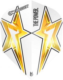 Target Phil Taylor Vision G3 Std.6 White Star   Darts Warehouse