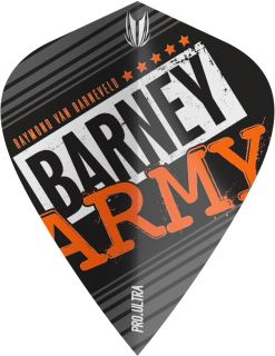 Vision Ultra Player Barney Army Black Kite Target Flight | Darts Warehouse
