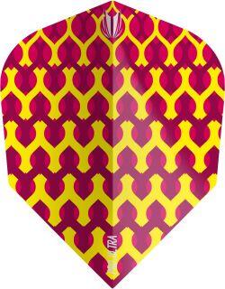 Vision Fabric Yellow Target Dartflights | Darts Warehouse