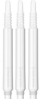 Target 8 Flight Shaft White Medium   Darts Warehouse