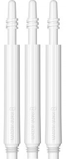 Target 8 Flight Spin Shaft White Medium   Darts Warehouse