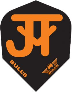 Bull's Powerflight Std.6 JvT Black Orange | Darts Warehouse