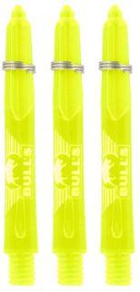 Glowlite Color Short Yellow   Nylon Shafts   Dartswarehouse