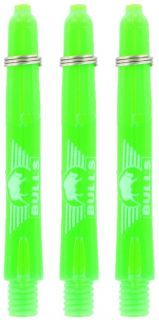 Glowlite Color Short Green   Nylon Shafts   Dartswarehouse