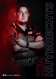 Kim Huybrechts Player Poster A3 Bull's NL Darts | Darts Warehouse