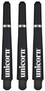 Unicorn Gripper 4 Short Black Shafts | Darts Warehouse