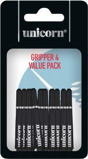 Gripper 4 Short Black Unicorn Shafts | Darts Warehouse