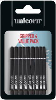 Unicorn Gripper 4 Medium Black Shafts | Darts Warehouse