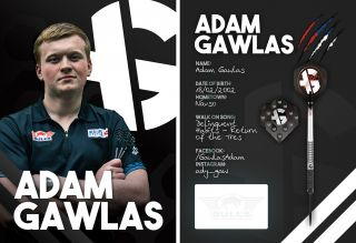 Adam Gawlas Signcard   Darts Warehouse