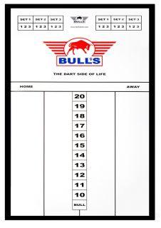 Styreen Scorebord 45x30 cm Black   Darts Warehouse