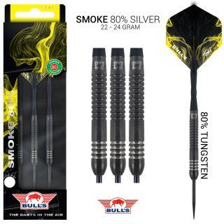 Bull's Smoke 80% Silver Dartpijlen| Darts Warehouse