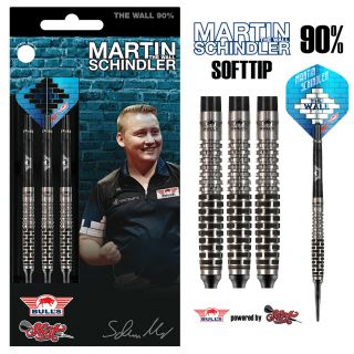 Bull's NL Softtip Martin Schindler The Wall 90% Match Dart | Darts Warehouse