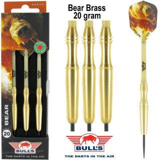 Bear Brass Bull's Dartpijlen voor kinderen 20 gram | Darts Warehouse