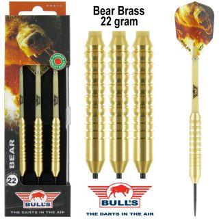 Bear Brass Bull's Dartpijlen voor kinderen 22 gram | Darts Warehouse