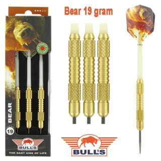Bear Brass 19 gram | Bulls Dartpijlen Kopen | Darts Warehouse