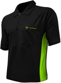 Coolplay Hybrid Black Green Target Dartshirt | Darts Warehouse