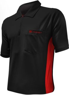 Coolplay Hybrid Black Red Target Dartshirt | Darts Warehouse