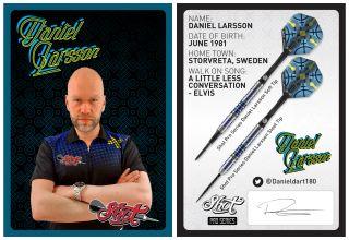 Daniel Larsson Signcard | Darts Warehouse