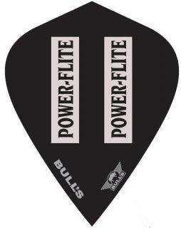 Powerflite L Kite Black Clear Bull's Powerflite | Darts Warehouse