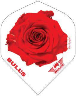 Bull's Powerflight Std. Red Rose White | Darts Warehouse