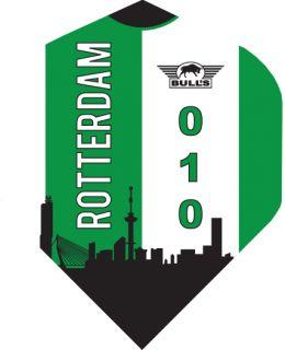 Bull's Powerflight Std. Rotterdam Skyline Green | Darts Warehouse