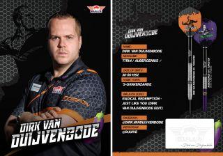 Dirk van Duijvenbode Handtekening Kaartje 2019   Darts Warehouse