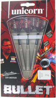 Bullet Gary Anderson Stainless Steel | Unicorn Darts bij Dartswarehouse