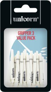 Gripper 3 Short White Unicorn Shafts | Darts Warehouse