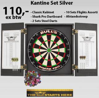 Kantine Set Silver | Bedrijfskantine Darten | Darts Warehouse