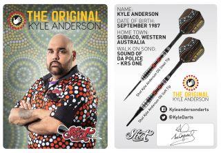Kyle Anderson Signcard   Darts Warehouse