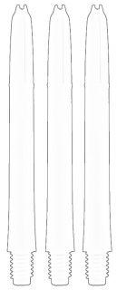 Laro Shaft Medium White | Laro Shafts | Dartswarehouse