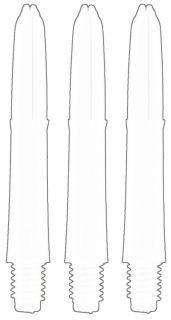 Laro Shaft Short White | Laro Shafts | Dartswarehouse