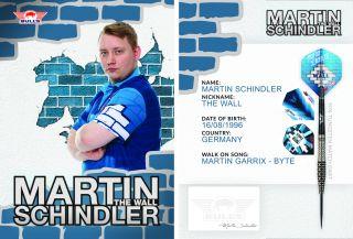 Martin Schindler Handtekening Kaart 2020 | Darts Warehouse