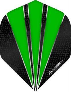 Mission Flare Green Std. Dartflight   Darts Warehouse