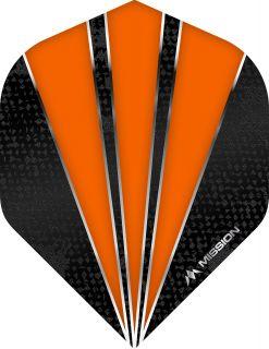 Mission Flare Orange Std. Dartflight   Darts Warehouse