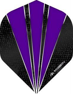 Mission Flare Purple Std. Dartflight   Darts Warehouse