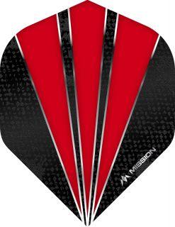 Mission Flare Red Std. Dartflight   Darts Warehouse