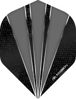Mission Flare Grey Std. Dartflight   Darts Warehouse