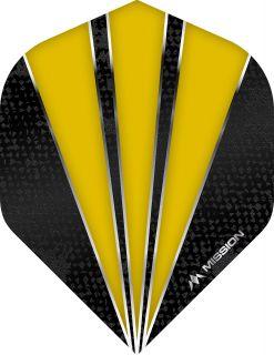 Mission Flare Yellow Std. Dartflight   Darts Warehouse