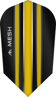 Mission Mesh Slim Yellow Dartflight | Darts Warehouse
