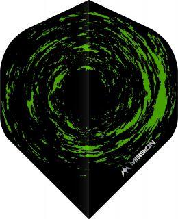 Mission Nova Std. Black Green Dartflight | Darts Warehouse