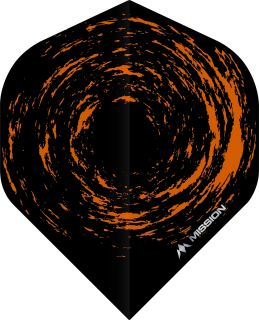 Mission Nova Std. Black Orange Dartflight | Darts Warehouse
