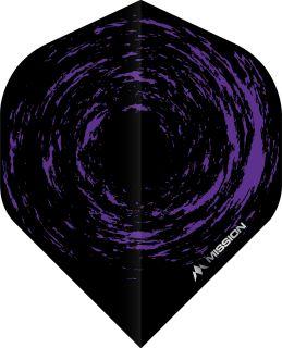 Mission Nova Std. Black Purple Dartflight | Darts Warehouse