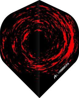 Mission Nova Std. Black Red Dartflight | Darts Warehouse